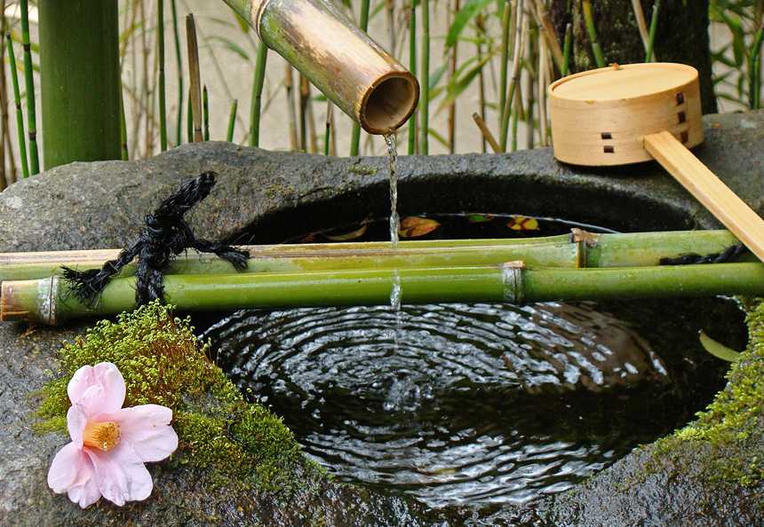 Tsukubai taste of japan for Japanese water feature